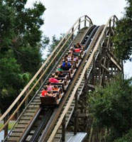 Legoland Florida's Wooden Coaster